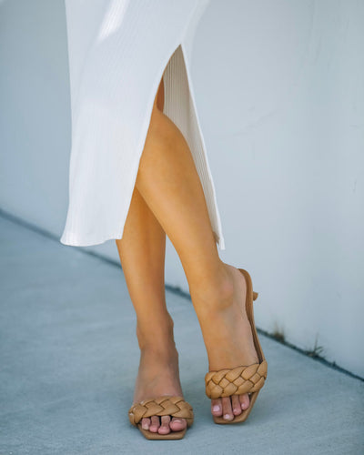 Taffy Braided Heeled Sandal - Natural