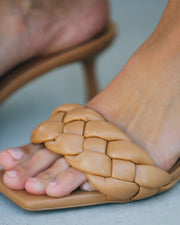 Taffy Braided Heeled Sandal - Natural view 4