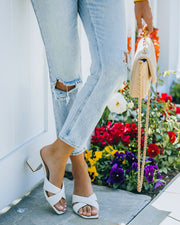 Twiggy Criss Cross Heeled Sandal - Off White view 2
