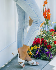 Twiggy Criss Cross Heeled Sandal - Off White view 7