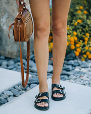 Madison Faux Leather Buckle Sandal view 8