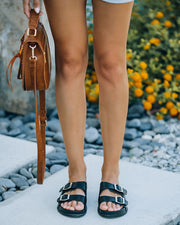 Madison Faux Leather Buckle Sandal view 7