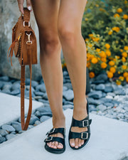 Madison Faux Leather Buckle Sandal view 1