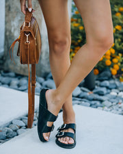 Madison Faux Leather Buckle Sandal view 9