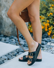 Madison Faux Leather Buckle Sandal view 6