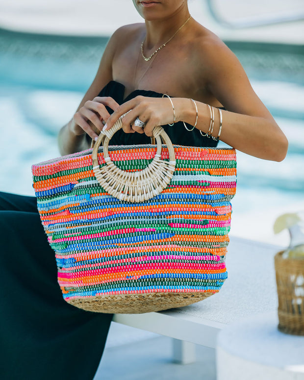 Fun And Bright Jute Handbag view 1