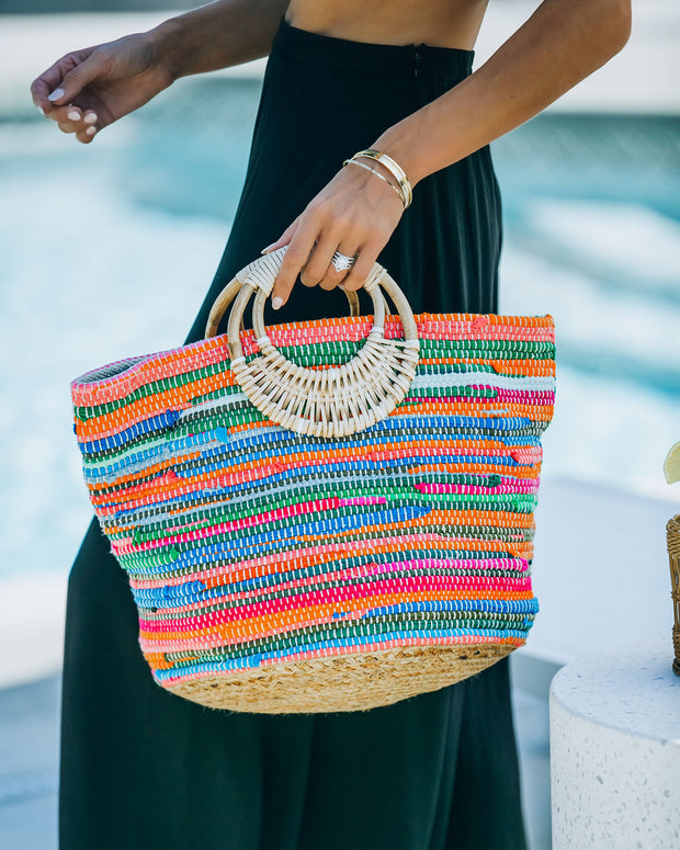 Fun And Bright Jute Handbag view 2