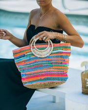 Fun And Bright Jute Handbag view 5
