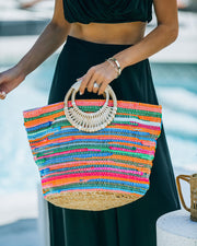 Fun And Bright Jute Handbag view 6
