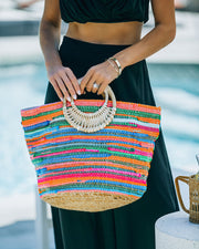 Fun And Bright Jute Handbag view 7