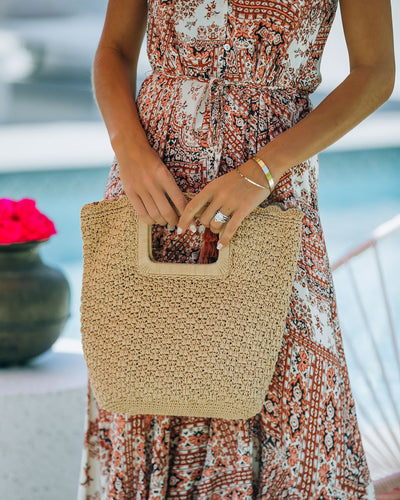 Fiji Woven Crochet Handbag - Natural