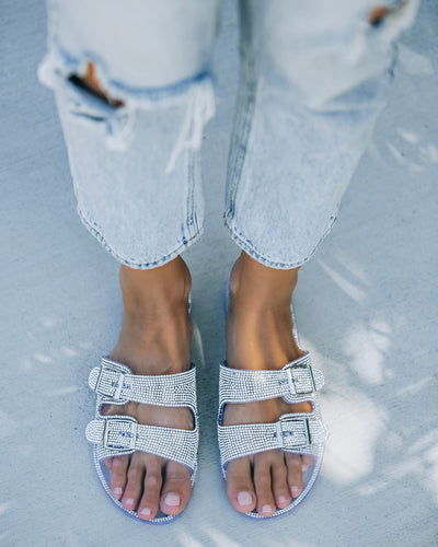 Fame And Fortune Buckle Sandal - Clear