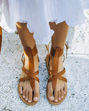 Blaze Faux Leather Sandal - Tan view 1