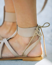 Blaze Faux Leather Sandal - Taupe view 4