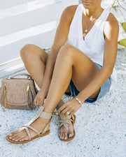 Blaze Faux Leather Sandal - Taupe view 6