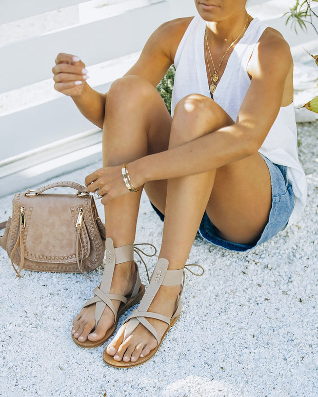 Blaze Faux Leather Sandal - Taupe view 2