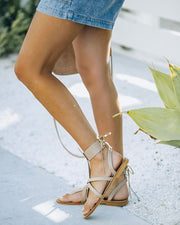 Blaze Faux Leather Sandal - Taupe view 8