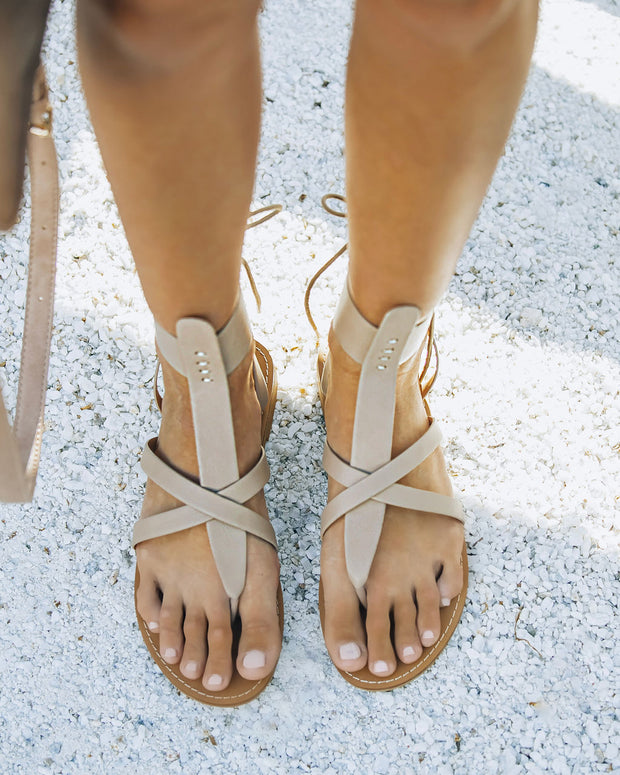 Blaze Faux Leather Sandal - Taupe view 3