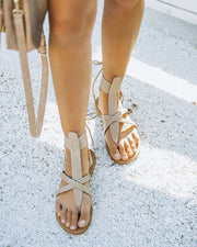 Blaze Faux Leather Sandal - Taupe view 1