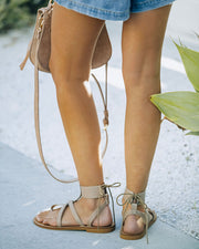 Blaze Faux Leather Sandal - Taupe view 5