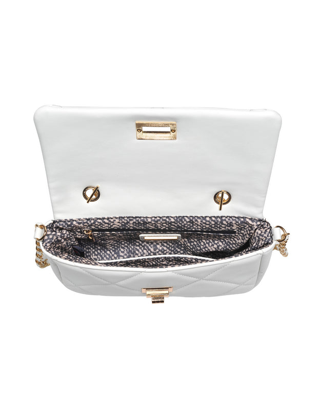 Emily Quilted Chain Crossbody Bag - White view 4