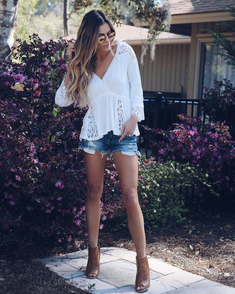 Joshua Tree Lace Boho Blouse