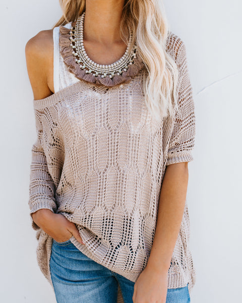 Henna Knit Dolman Sweater - Taupe