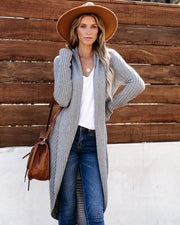 2 In 1 Cashmere Blend Convertible Cardigan - Heather Grey