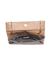 Eloise Snake Embossed Crossbody Clutch view 4