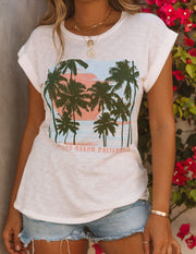 Picture Perfect Cotton + Modal Venice Beach Tee view 6