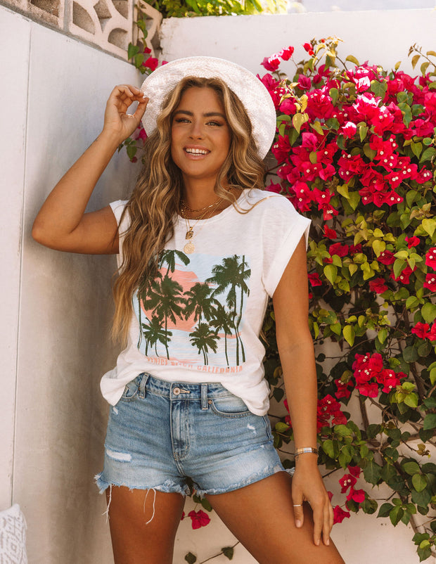 Picture Perfect Cotton + Modal Venice Beach Tee view 7