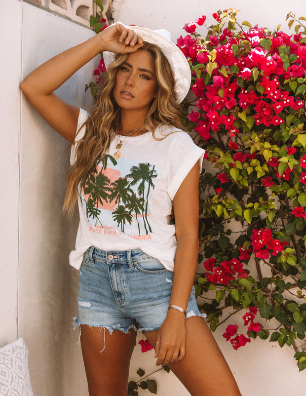 Picture Perfect Cotton + Modal Venice Beach Tee view 1
