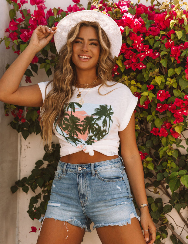 Picture Perfect Cotton + Modal Venice Beach Tee view 9