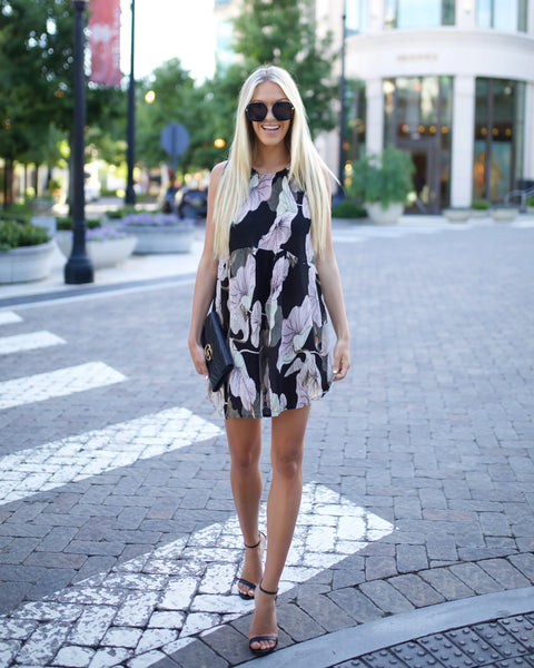 Morning Glory Pleated Dress