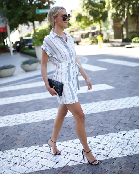 La Petite Button Down Wrap Dress