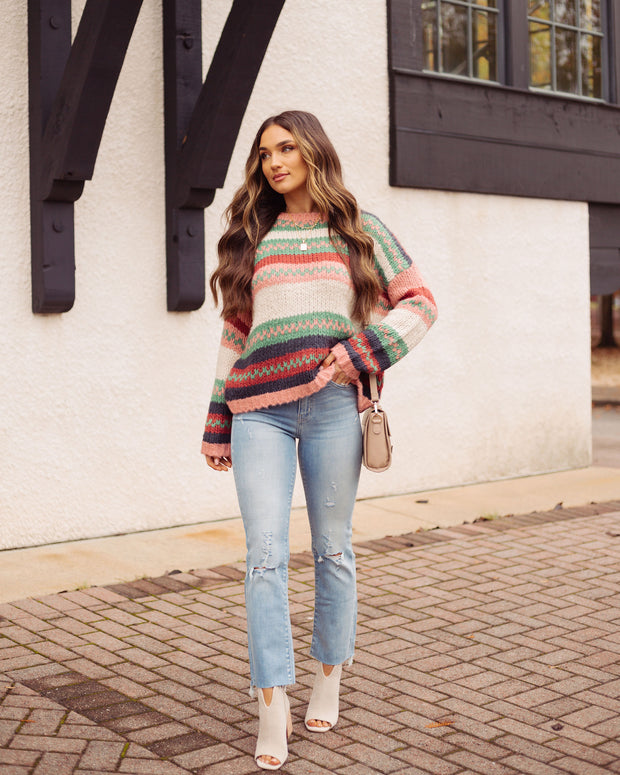 Hometown Honey Striped Knit Sweater - FINAL SALE view 1