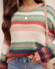 Hometown Honey Striped Knit Sweater - FINAL SALE view 8