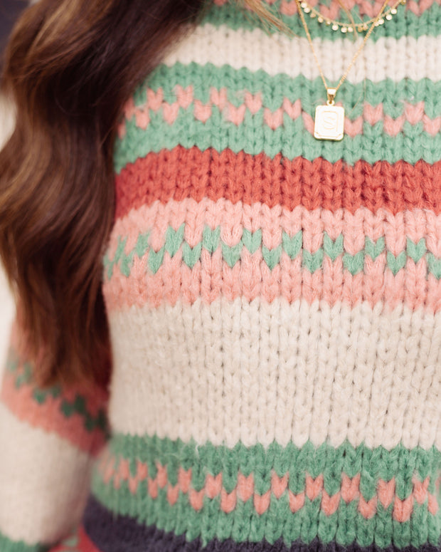 Hometown Honey Striped Knit Sweater - FINAL SALE view 5