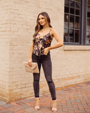 In That Very Moment Floral Cami Tank