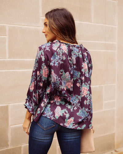Cyrus Floral Ruffle Blouse