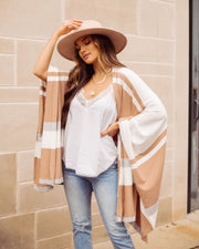 Edmond Striped Knit Poncho