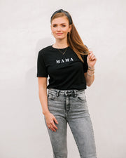 Mama Embroidered Cotton Blend Tee view 9