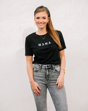 Mama Embroidered Cotton Blend Tee view 5