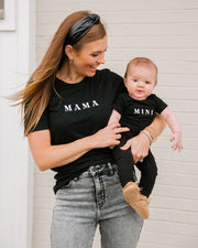 Mama Embroidered Cotton Blend Tee view 1