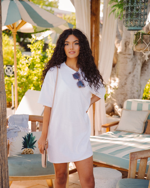 Lost In Paradise French Terry T-Shirt Dress view 7