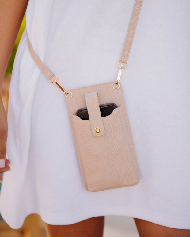 Dusk Phone + Cardholder Crossbody Bag - Nude view 3