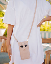 Dusk Phone + Cardholder Crossbody Bag - Nude view 5