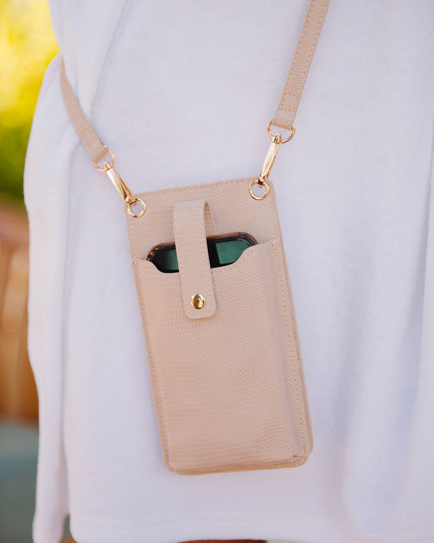 Dusk Phone + Cardholder Crossbody Bag - Nude view 9
