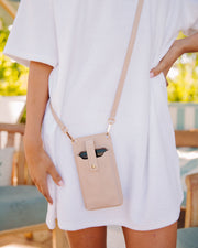 Dusk Phone + Cardholder Crossbody Bag - Nude view 1