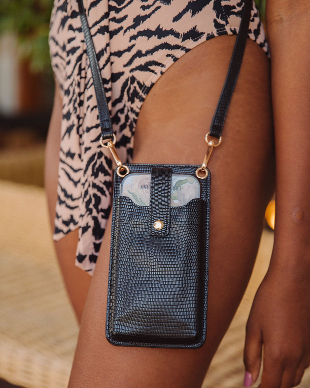 Dusk Phone + Cardholder Crossbody Bag - Black view 3